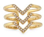 Pave Chevron Ring- gold