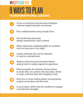 9 Ways to Plan Transformational Lessons