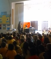 Mrs. Coover & Mr. Casper singing for us