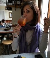 Laura celebrating a SIW in Barcelona