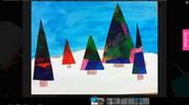 Tissue paper triangle trees