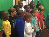 PBIS Superstars singing on the Morning Announcements