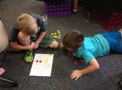 "Chase and Michael playing ""Tic Tac Toe Sums in a Row"""