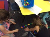 Measuring with non-standard units in Mrs. Johnson's room.