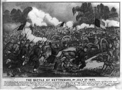 A Cartoon of the Battle of Gettysburg