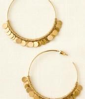Gold Fringe Hoops - Large