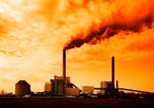 Factories also burn fossil fuels.