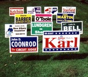SIGNS IN YOUR YARD - LIMIT 1
