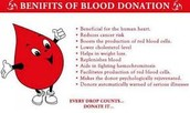 Benefits in being part of blood donation