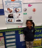 Brielle sharing her All About Me Poster!