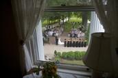 Bridal suite overlooks the ceremony.