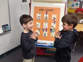 "Greeting each other with a ""Namaste"""