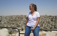 City of Amman, Jordan in the background.