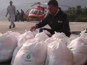 ITBP jawans distributed food and medicines.