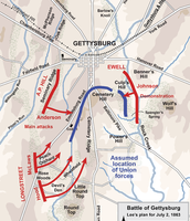 Geographical Map of Gettysburg
