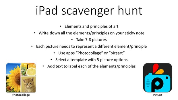 Ipad Scavenger Hunt Smore Newsletters For Education