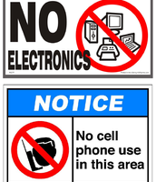 Classroom Electronic Use Expectations Sign