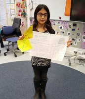 Dila presenting about her beliefs and values