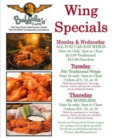 Weekly Wing Specials
