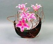 This is an example of a Japanese flower arangment