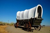 Wagon on the Oregon Trail