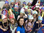 Celebrating the 100th Day of School in Mrs. Paulson's class.