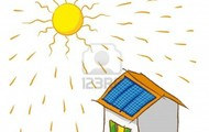 Solar panels working in a house