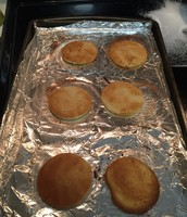 fresh out of the oven, golden brown