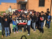 K104 Came to our campus on Carrier Day