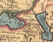 מפת אזור קווקז מהמאה ה19