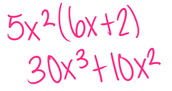 Monomial by a Polynomial