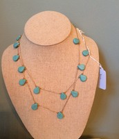 Turquoise Threaded Necklace $24 SOLD!