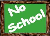 Thursday, October 20 - NO SCHOOL