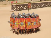 Roman Soldiers creating shield
