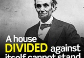 Lincoln and Douglas/ A house divided
