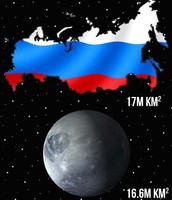 Russia is larger than pluto