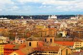 העיר רומא מבט עילי