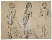 Degas' Ballerina Sketches