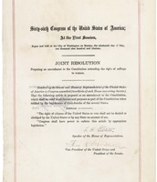 Document of the 19th Amendment