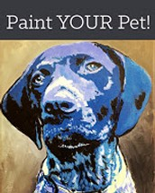 Join us for a specialty class where you can paint your pet on Canvas from a photograph