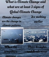 What is Climate Change and What Are At Least 3 Signs of Global Climate Change
