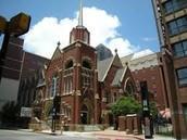The first baptist church in Dallas