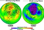 This shows that ozone layer is getting better but not fully better.