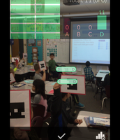 THANK YOU PTO for the technology grant!  I'm using my i-pad for Plickers!