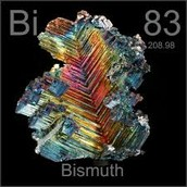Bismuth- period number 6, group number 15, and group name Pnictogen.
