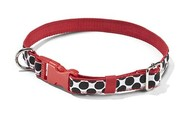 Large Perfect Pet Collar (black spotty dot)