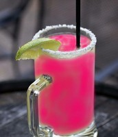 This month a percentage of house frozen margaritas sales are donated to the Susan G. Komen Foundation