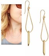 Rebel Drop Earrings Reg $39 25% sale $29
