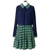 Azul Vestido
