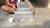 Put the container into the solar cooker and cover the lid
